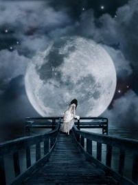 alone,bridge,clouds,dress,girl,moon-baec3b5c4301636f28d9abda49fbe5f9_h